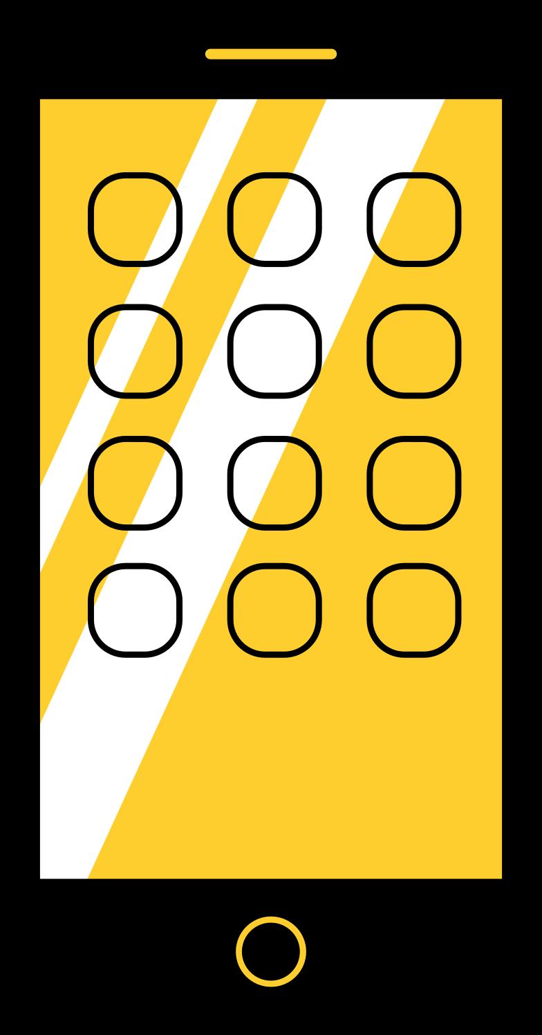 Ilustración de clipart de teléfono en PNG, SVG