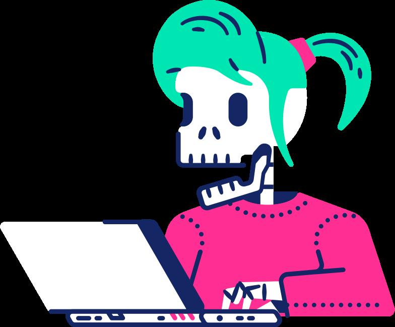 skeleton girl Clipart illustration in PNG, SVG