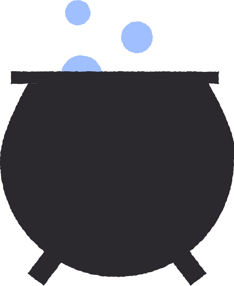magic caldron Clipart illustration in PNG, SVG