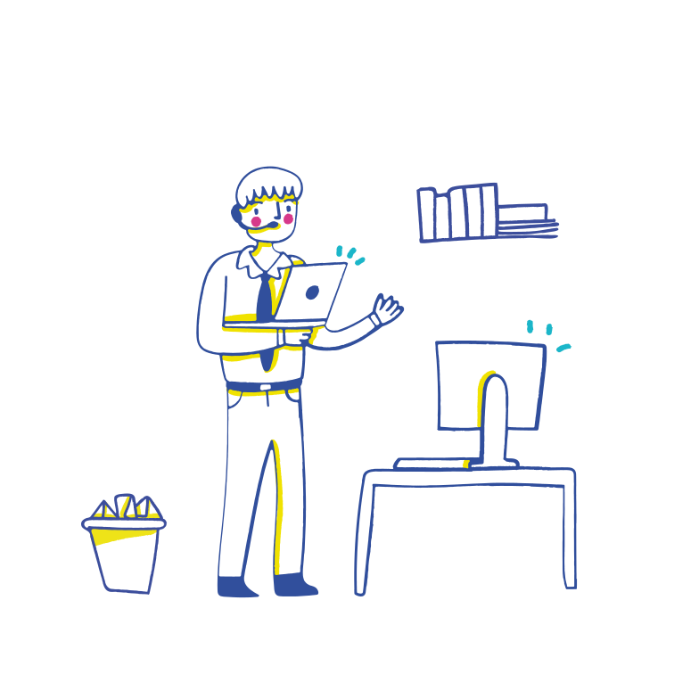 Work & Office Clipart illustration in PNG, SVG