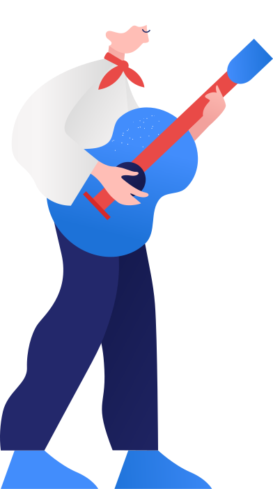 style guy with the guitar images in PNG and SVG | Icons8 Illustrations