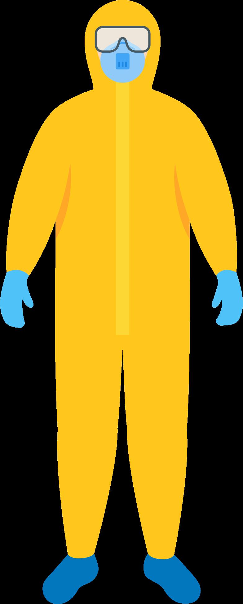 스타일 안전 마스크와 고글을 착용 한 보호 복 PNG 및 SVG 형식의 벡터 이미지 | Icons8 일러스트레이션