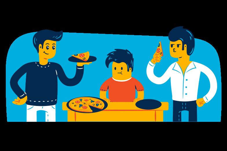 Imágenes vectoriales Noche de pizza en PNG y SVG estilo  | Ilustraciones Icons8