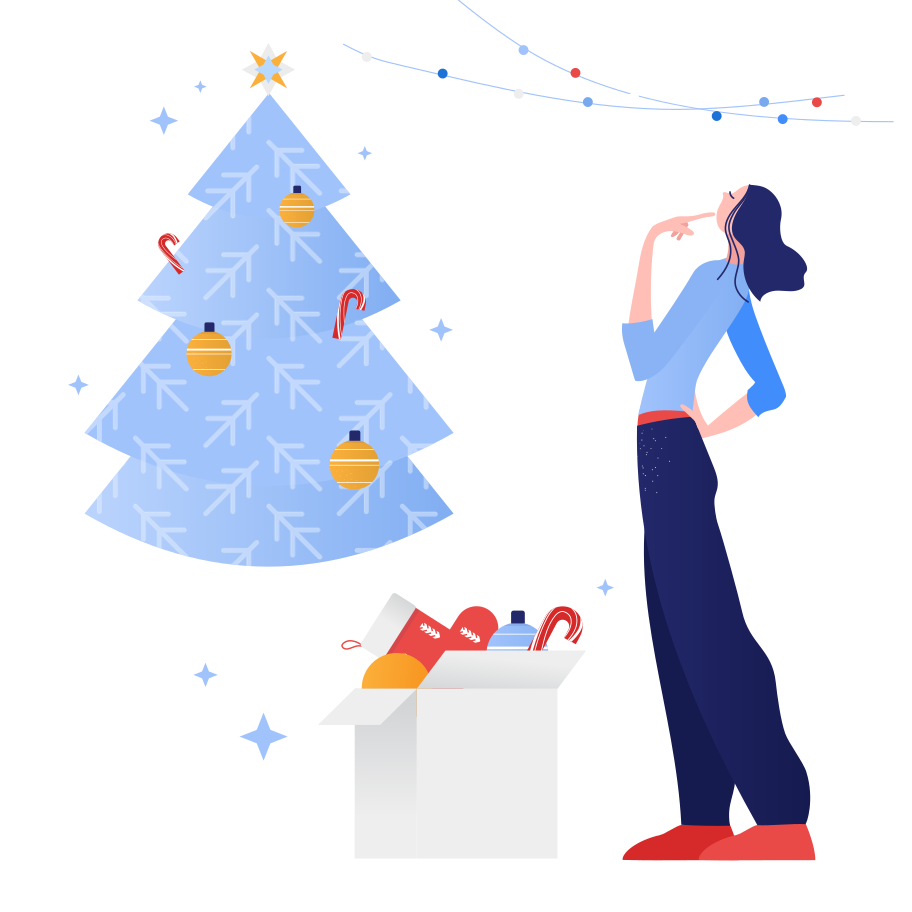Preparing for Christmas Clipart illustration in PNG, SVG