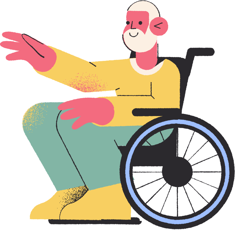 man wheelchair Clipart illustration in PNG, SVG
