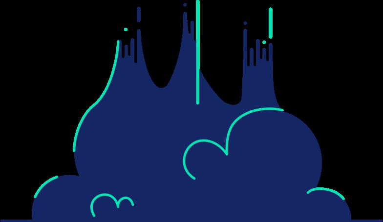 rocket cloud Clipart illustration in PNG, SVG