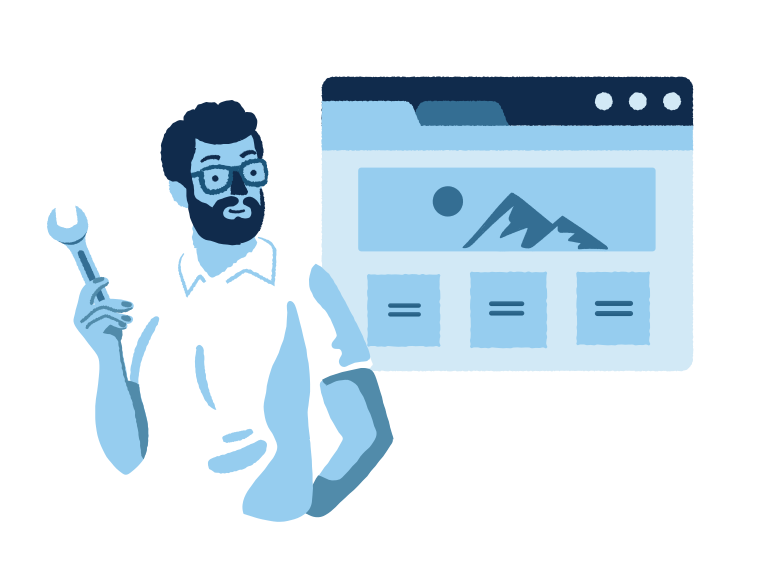 Landing page Clipart illustration in PNG, SVG
