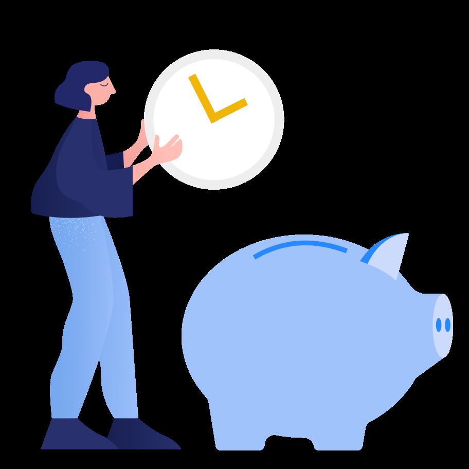 Risparmio di tempo Illustrazione clipart in PNG, SVG