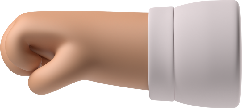 left-facing fist Clipart illustration in PNG, SVG