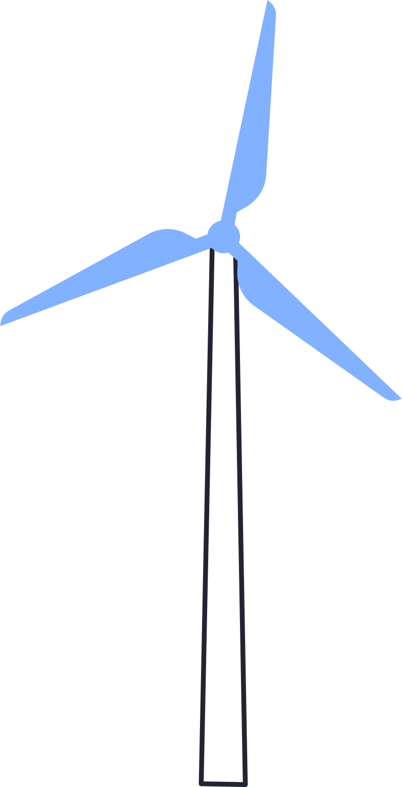 eco technologies  windmill Clipart illustration in PNG, SVG