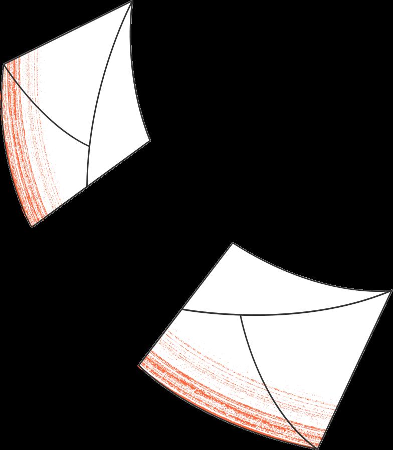 split envelope Clipart illustration in PNG, SVG