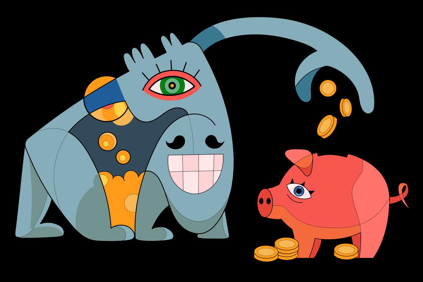 Ilustración de clipart de Planificacion financiera en PNG, SVG