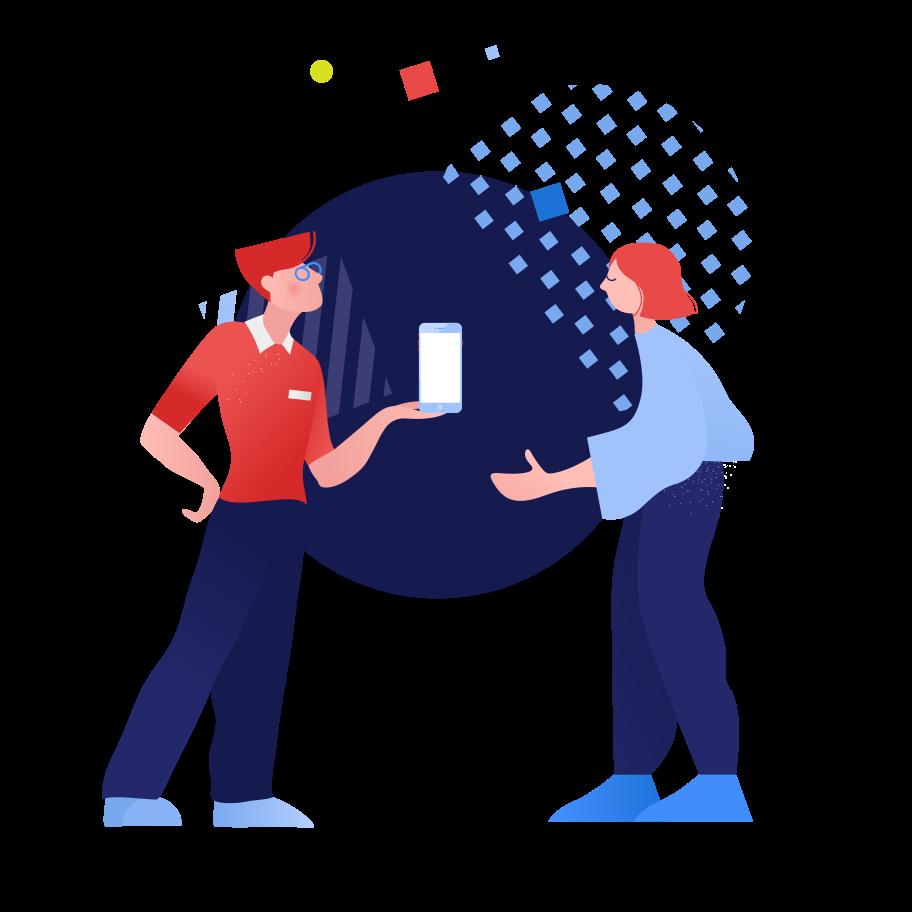 Shop assistant Clipart illustration in PNG, SVG