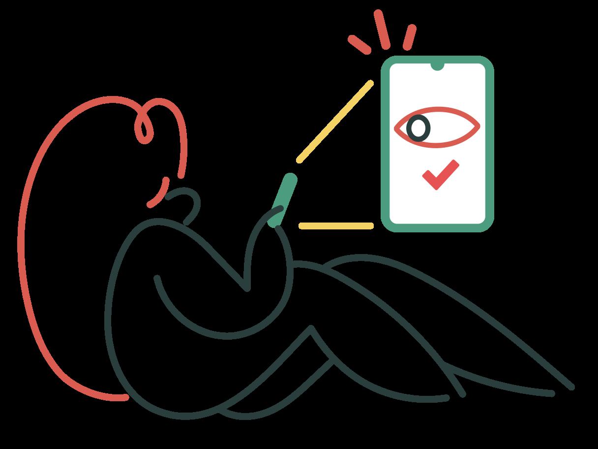 Face identification ok Clipart illustration in PNG, SVG