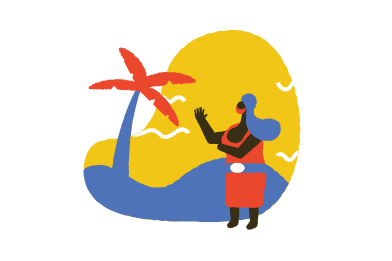 style With mask on the beach images in PNG and SVG | Icons8 Illustrations