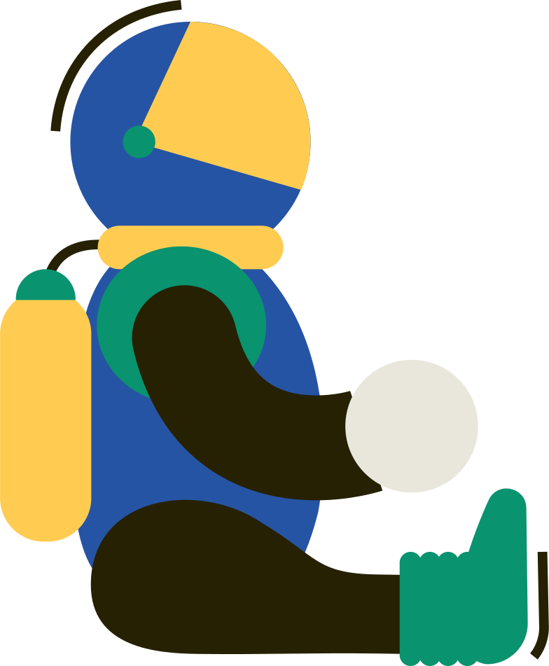 astronaut Clipart illustration in PNG, SVG