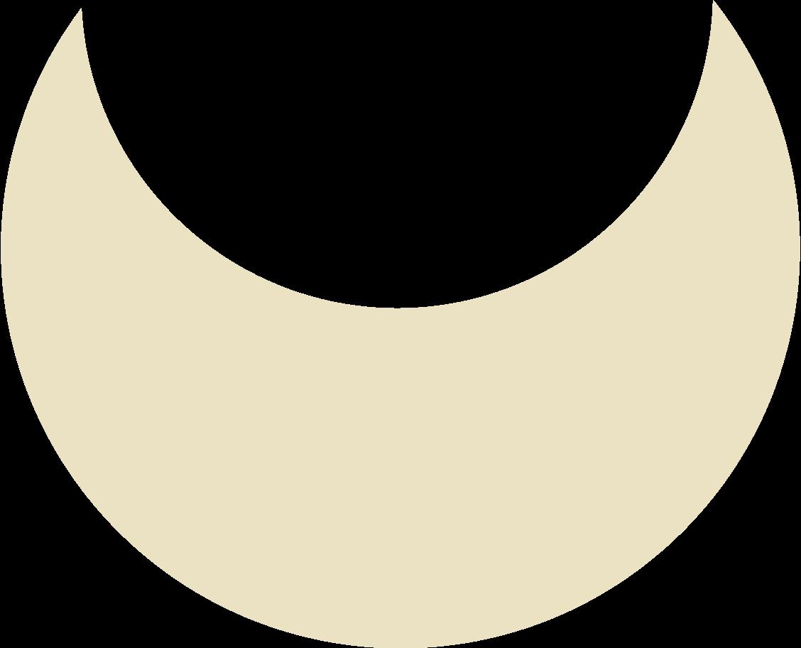 crescent beige Clipart illustration in PNG, SVG