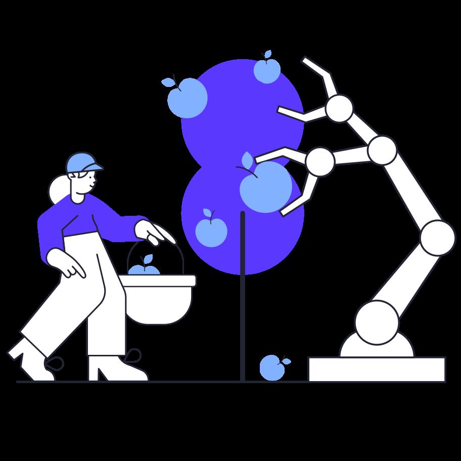 Imágenes vectoriales Jardinero robot en PNG y SVG estilo  | Ilustraciones Icons8