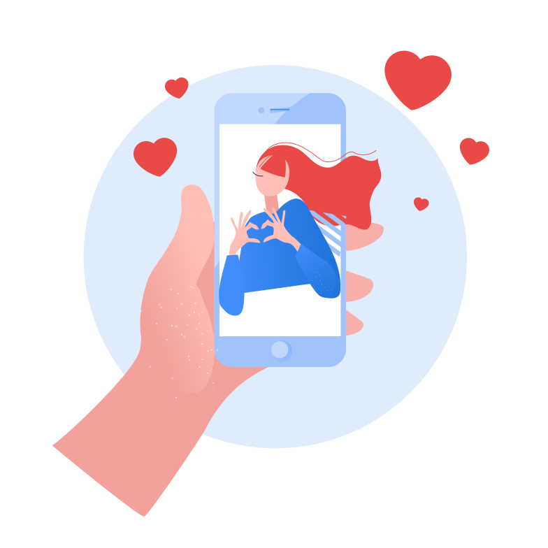 style Chatting with girlfriend Vector images in PNG and SVG | Icons8 Illustrations