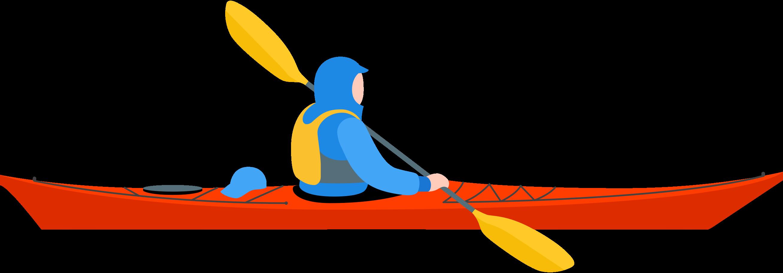 kayaker Clipart illustration in PNG, SVG