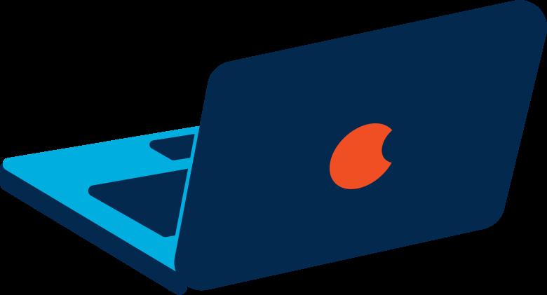 Illustration clipart laptop aux formats PNG, SVG