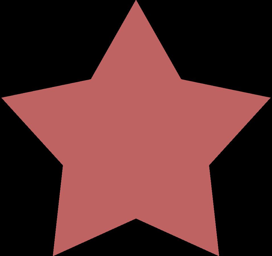 star burgundy Clipart illustration in PNG, SVG