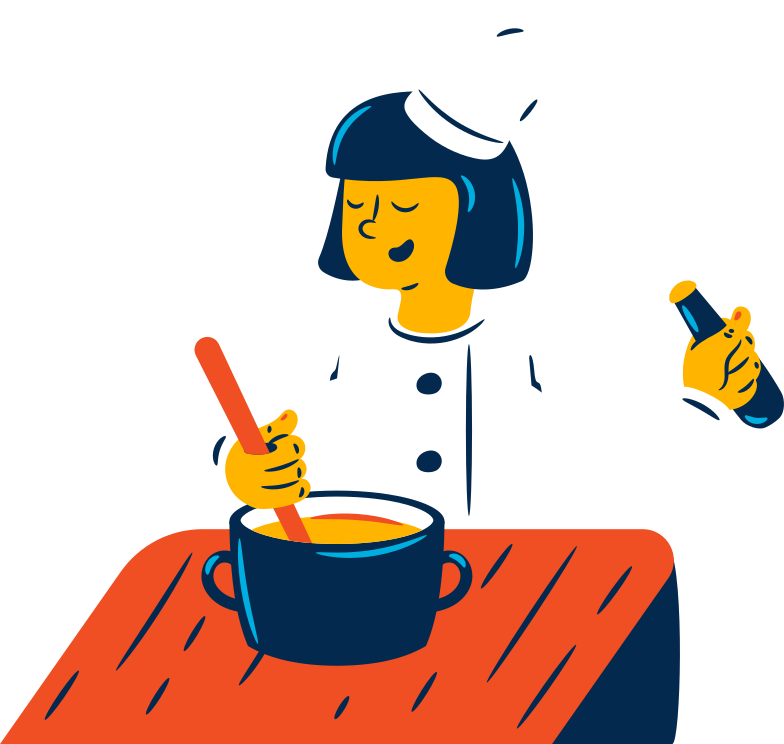 woman cook Clipart illustration in PNG, SVG