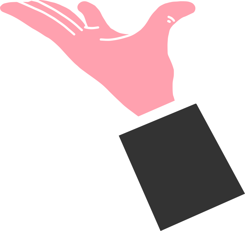 hand in suit Clipart illustration in PNG, SVG