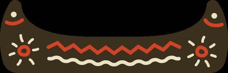 boat canoe Clipart illustration in PNG, SVG