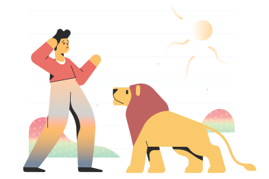 style Meet a lion images in PNG and SVG | Icons8 Illustrations