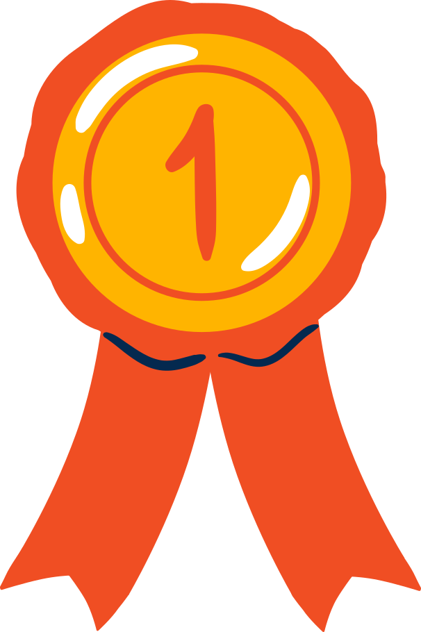 medal first place Clipart illustration in PNG, SVG