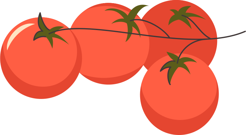 tomato branch Clipart illustration in PNG, SVG