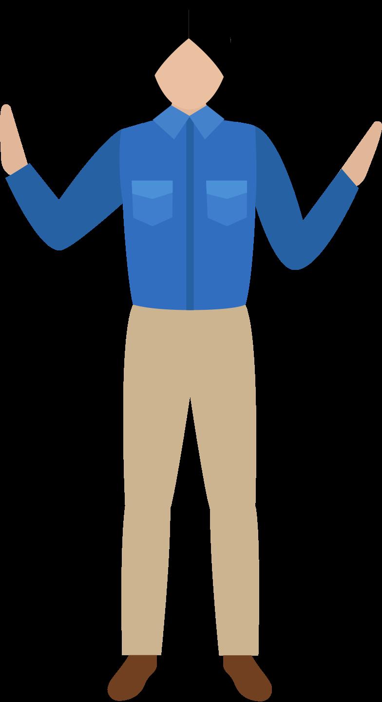 Frau in hemd und hose Clipart-Grafik als PNG, SVG