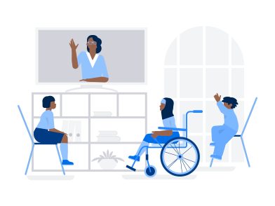 style Inclusive Online School images in PNG and SVG | Icons8 Illustrations