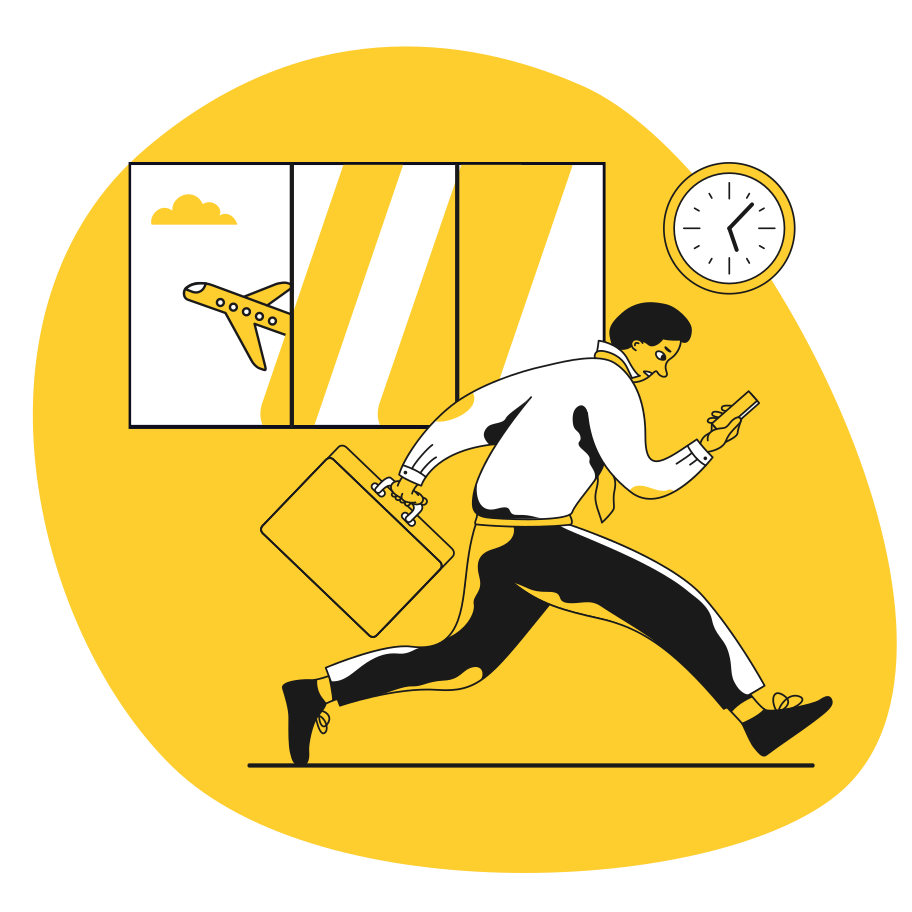 Being late Clipart illustration in PNG, SVG