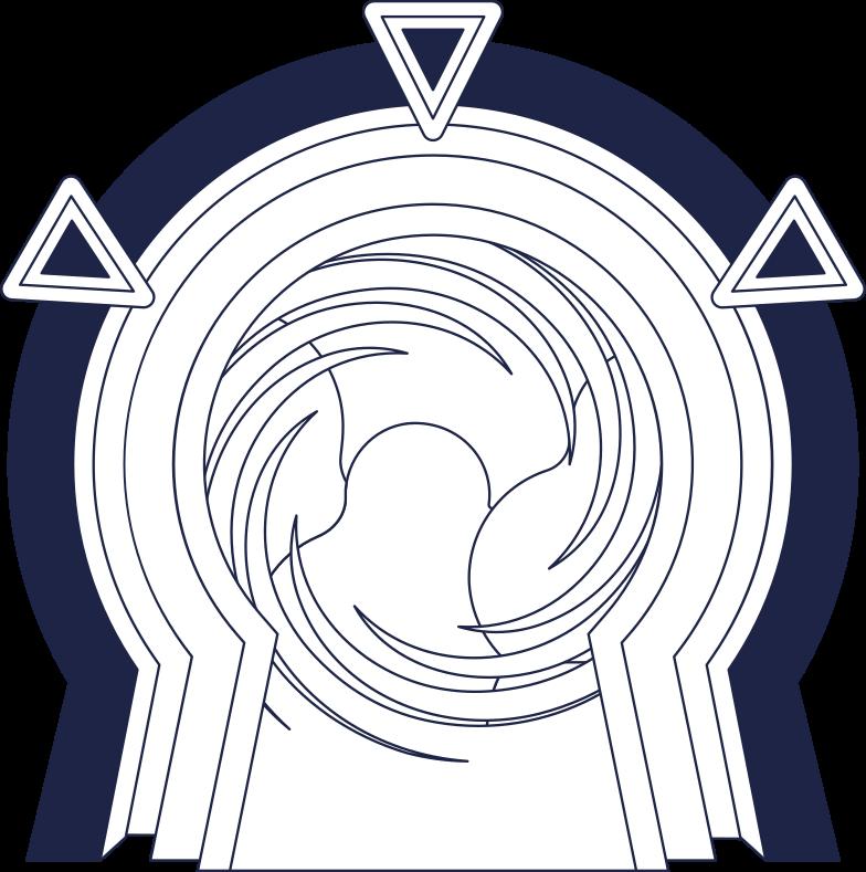 portal line Clipart illustration in PNG, SVG