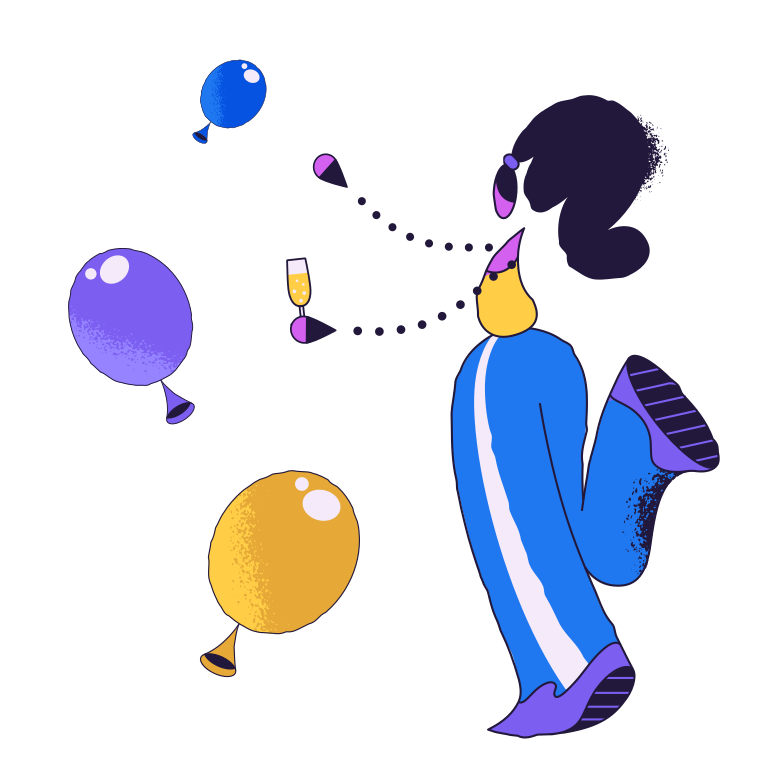 Party mood Clipart illustration in PNG, SVG