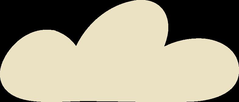 Illustration clipart cloud aux formats PNG, SVG