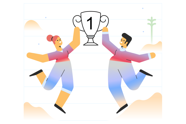 First place Clipart illustration in PNG, SVG