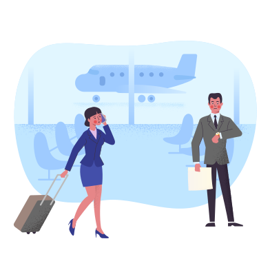 style Meeting at the airport images in PNG and SVG | Icons8 Illustrations