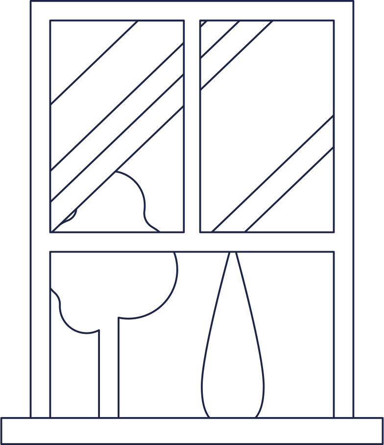 window in room 2 line Clipart illustration in PNG, SVG