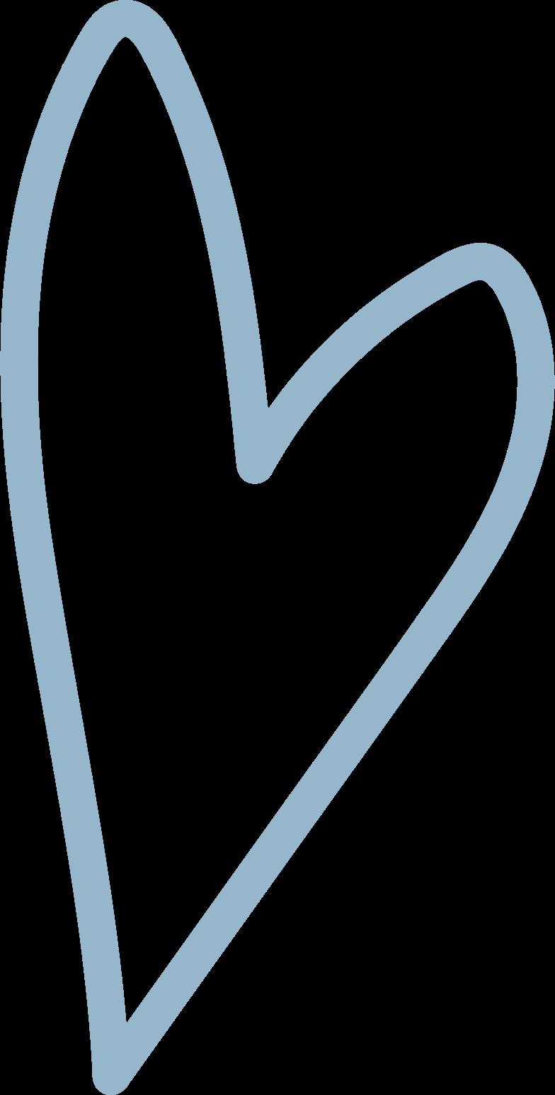 tk blue heart Clipart illustration in PNG, SVG