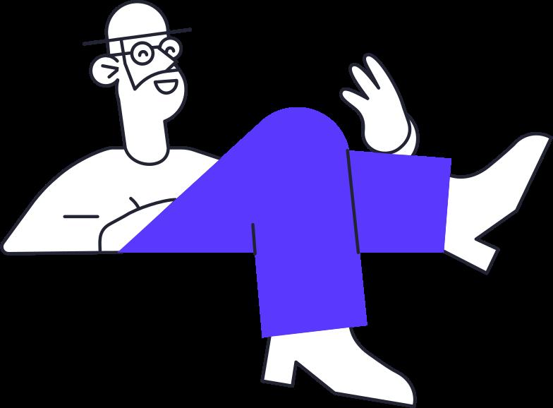 car rental  man Clipart illustration in PNG, SVG