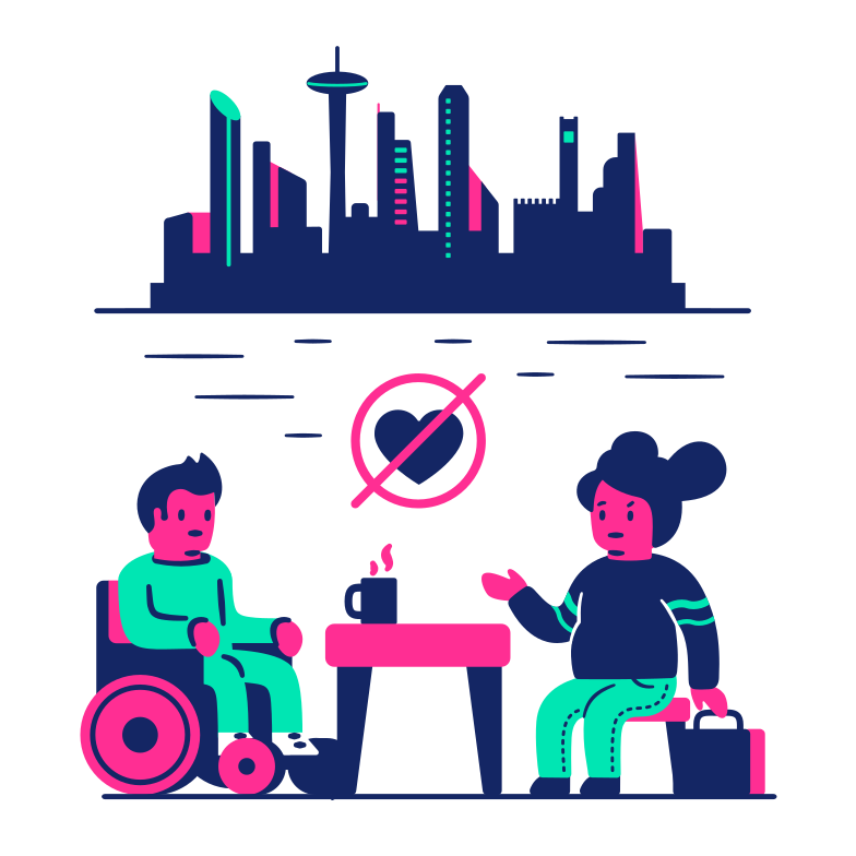 style Unsuccessful date in the city Vector images in PNG and SVG | Icons8 Illustrations
