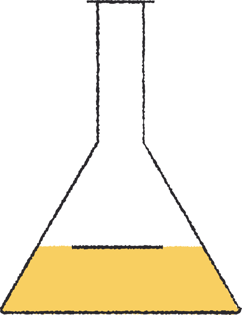 test tube yellow Clipart illustration in PNG, SVG