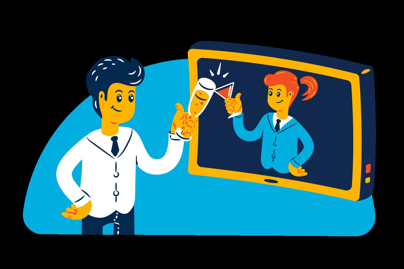 Online date Clipart illustration in PNG, SVG