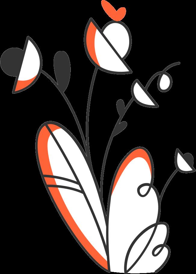 Pflanzenzusammensetzung Clipart-Grafik als PNG, SVG