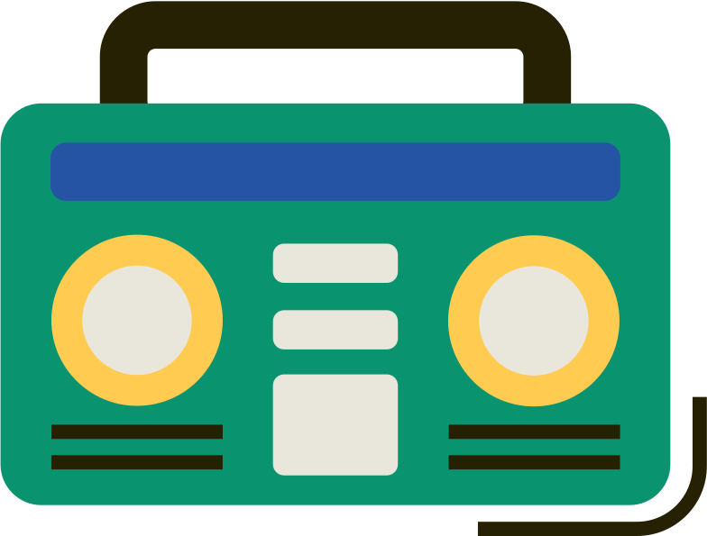 boombox Clipart illustration in PNG, SVG