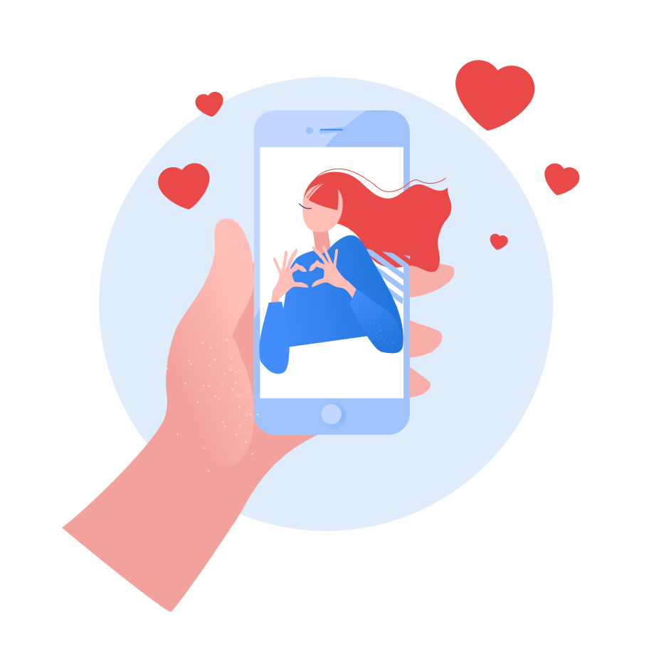 style Chatting with girlfriend images in PNG and SVG | Icons8 Illustrations