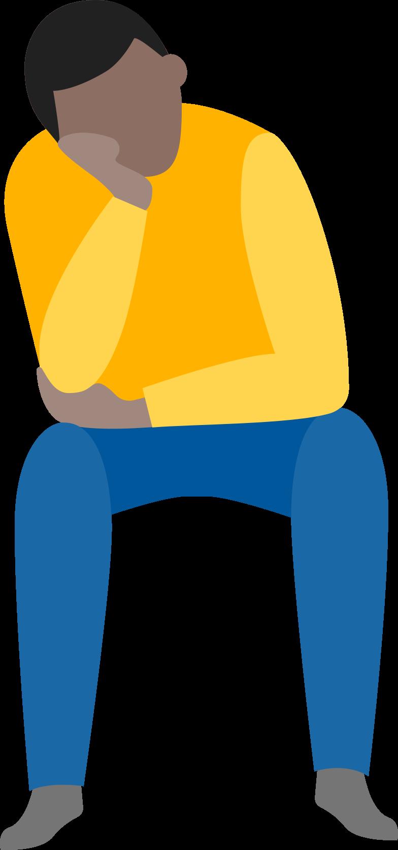 Ilustración de clipart de waiting man en PNG, SVG